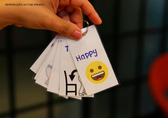 cartões de comunicação - brinquedo sensorial